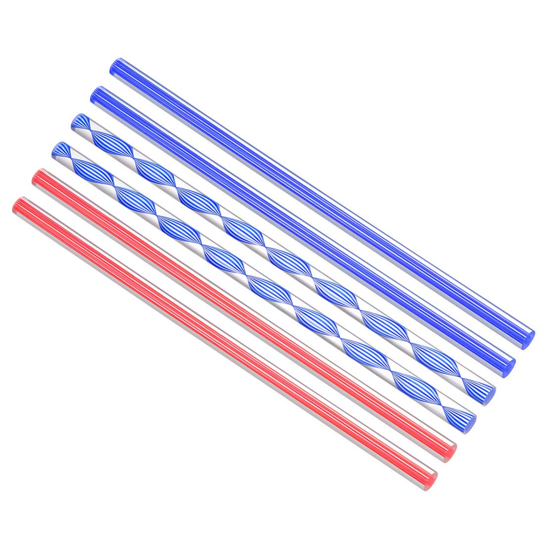 uxcell Acrylic Round Rod,3//8 inch Dia 10 inch Length,Transparent Clear Plastic Round Rod,Solid PMMA Bar