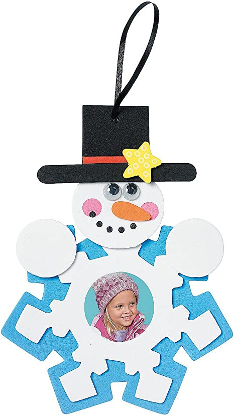 Snow man pictures frame ornaments