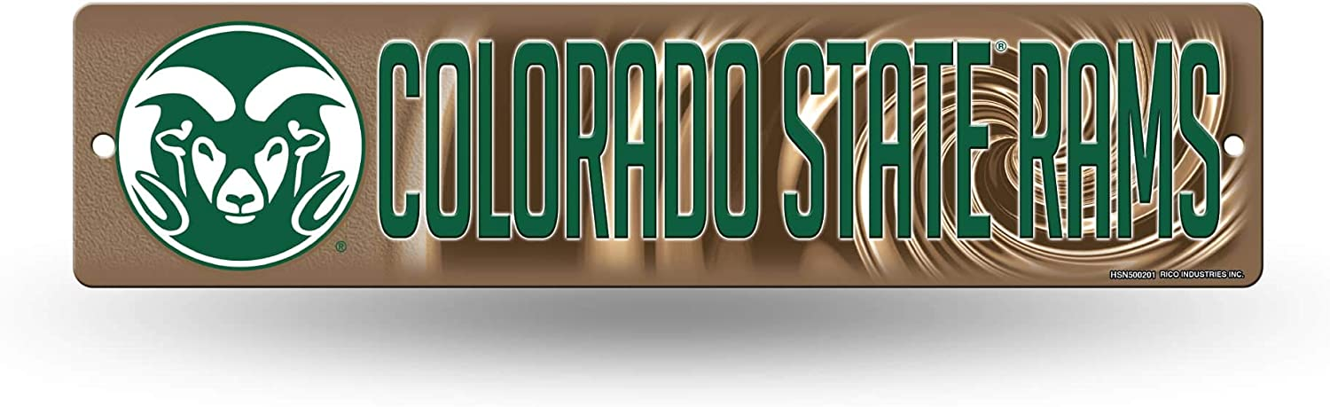 Colorado State Rams NCAA Rico Industries  16-Inch Plastic Street Sign D/écor