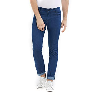 53d3bc8e9a86 Mufti Mens Blue Slim Fit Jeans (30)  Amazon.in  Clothing   Accessories