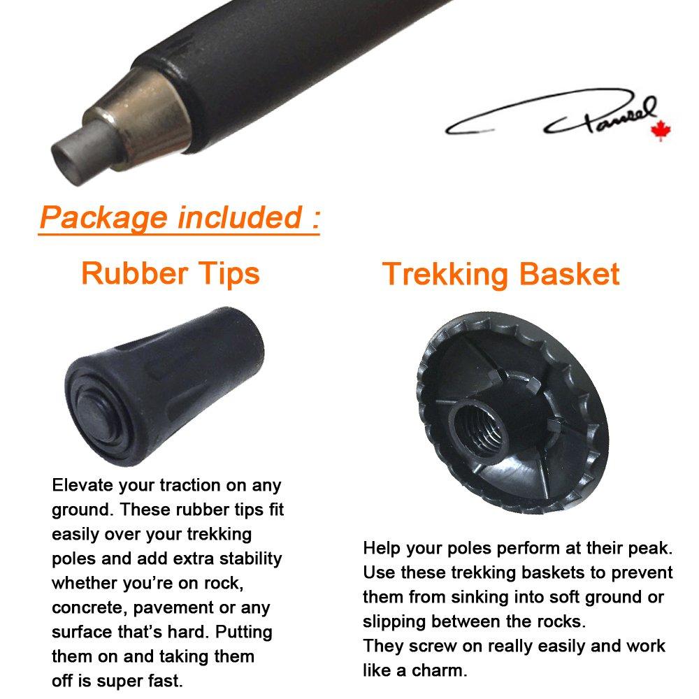 with Cork Handle Tungsten and Tips Accessories Pansel Ultralight Carbon Fiber Hiking Poles Walking Sticks Trekking Poles for Men Women Kid