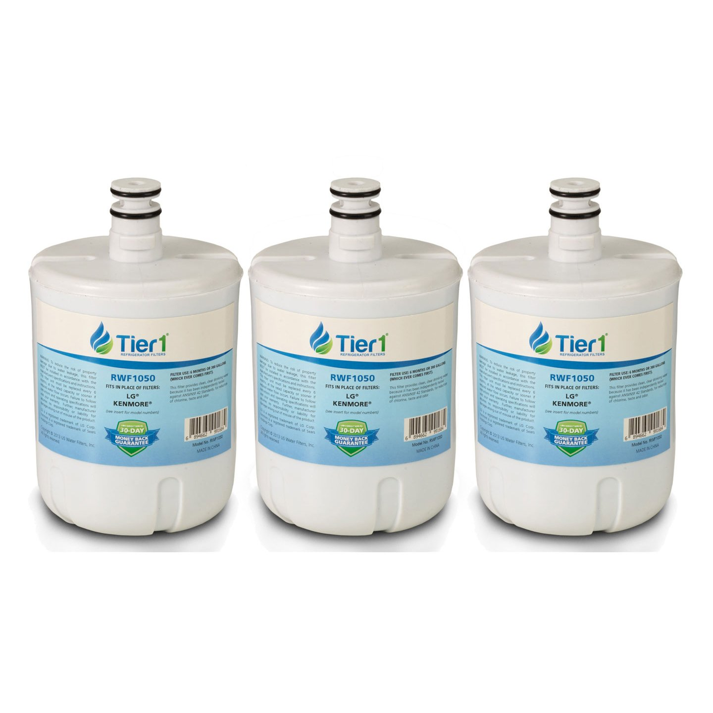 Tier1 Replacement for LG LT500P, 5231JA2002A, GEN11042FR-08, ADQ72910902, ADQ72910907, ADQ72910901 Refrigerator Water Filter 3 Pack