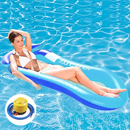 Pool Inflatable Chair Float Lounge Raft Swimming Sofa Kid Water Floating New