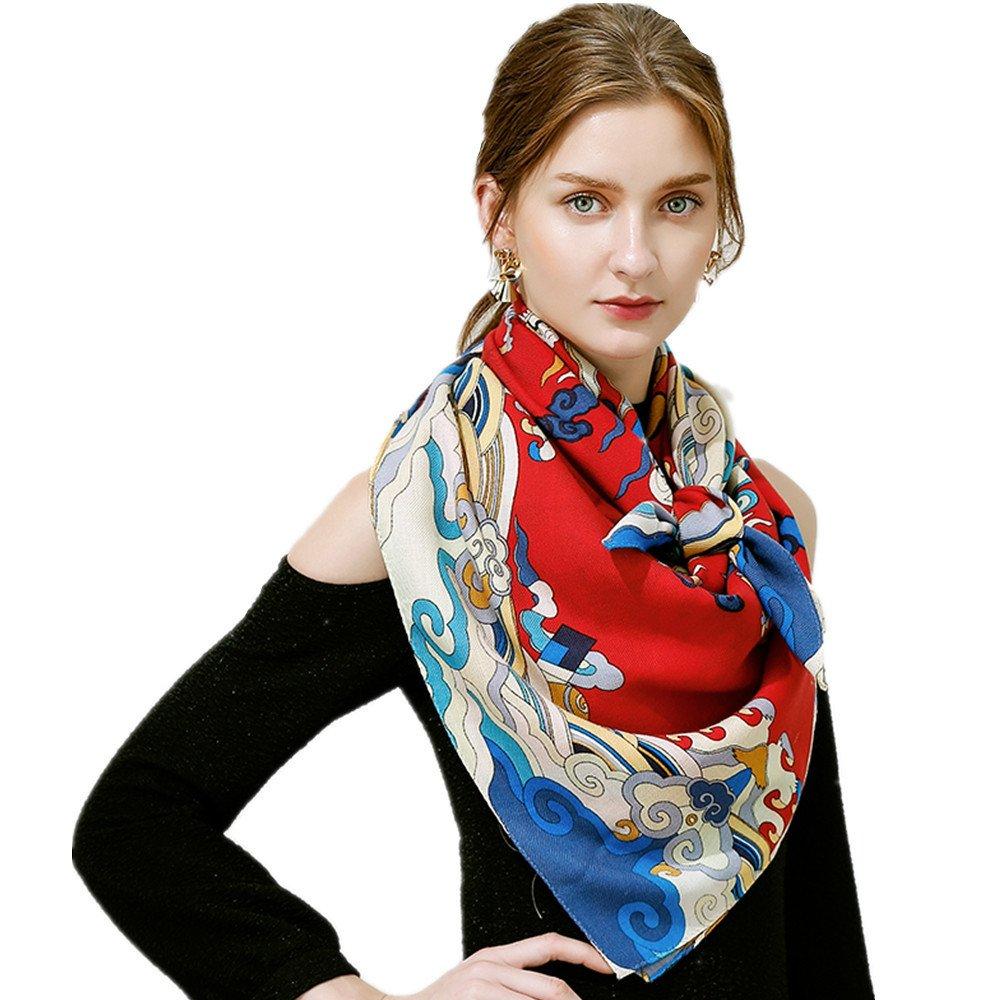 Women's Fashion Luxury Pure Wool Winter Scarves Printing Wraps Bandana(120cmx120cm),1#
