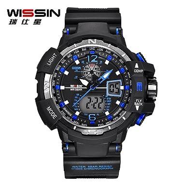 Rcool Relojes suizos relojes de lujo Relojes de pulsera Relojes para mujer Relojes para hombre Relojes deportivos,Reloj digital LED estilo reloj de pulsera ...