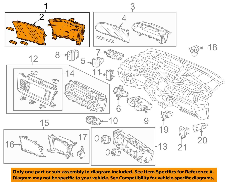 Honda Genuine 78200-TR2-A01 Combination Meter Assembly