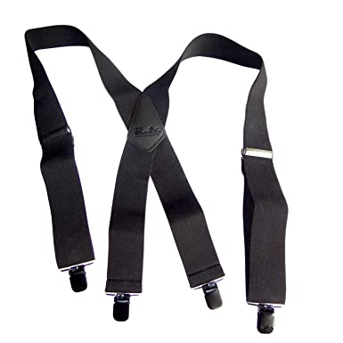 a08c17b97cb Shadow Black 2 quot  Wide 48 quot  Long Heavy Duty Suspender With Patented  ...