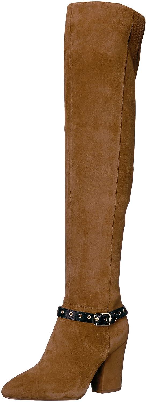 Nine West Women's Sandor Knee High Boot Suede B01N19IX47 9 B(M) US|Brown/Black Suede Boot 78a7d8