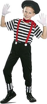EUROCARNAVALES Disfraz de Mimo Circo para niño 3 a 4 años ...