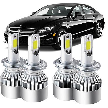Amazon com: 4PCS H7 LED Headlight Bulbs For Mercedes Benz