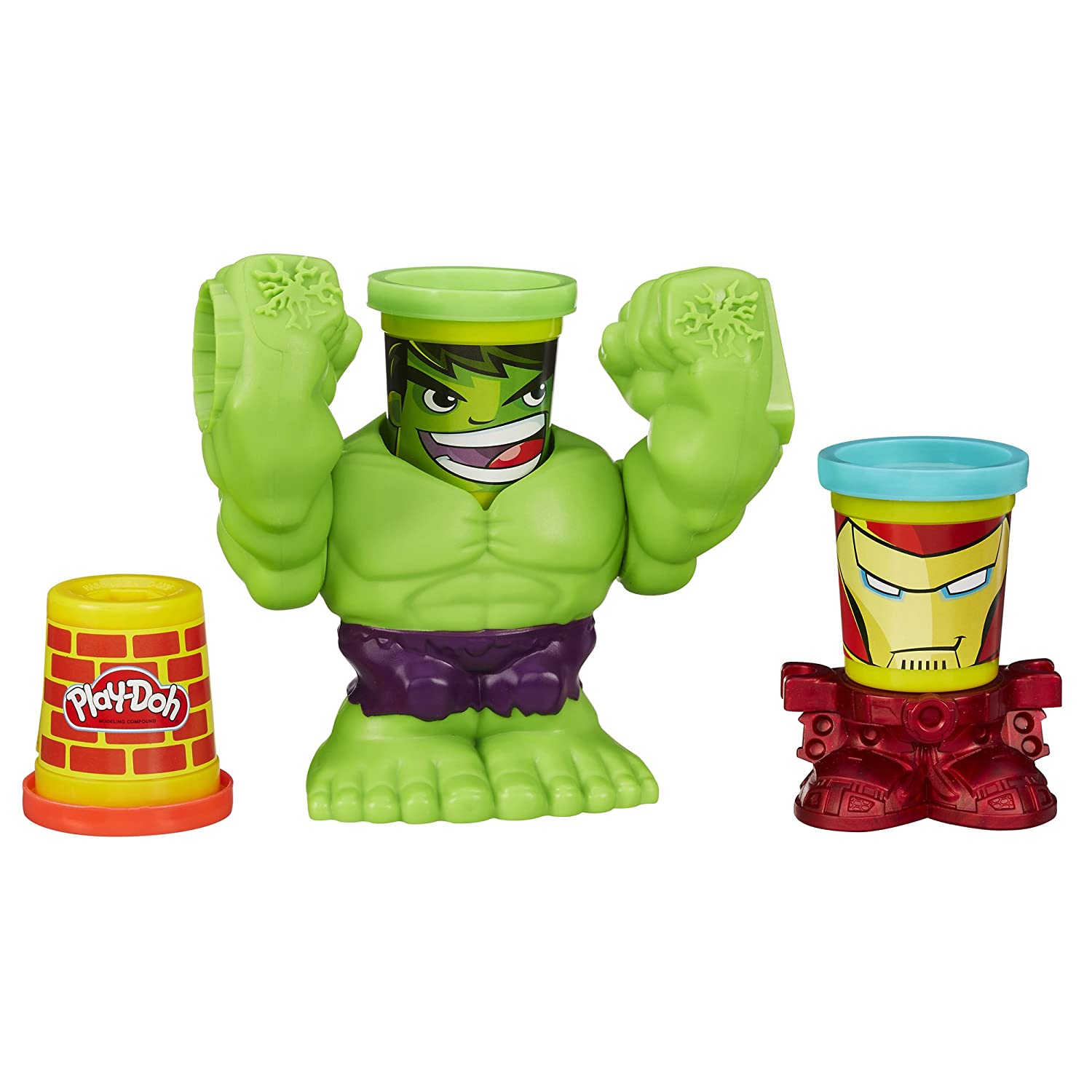 Play-Doh Smashdown Hulk Featuring Marvel Can-Heads B0308