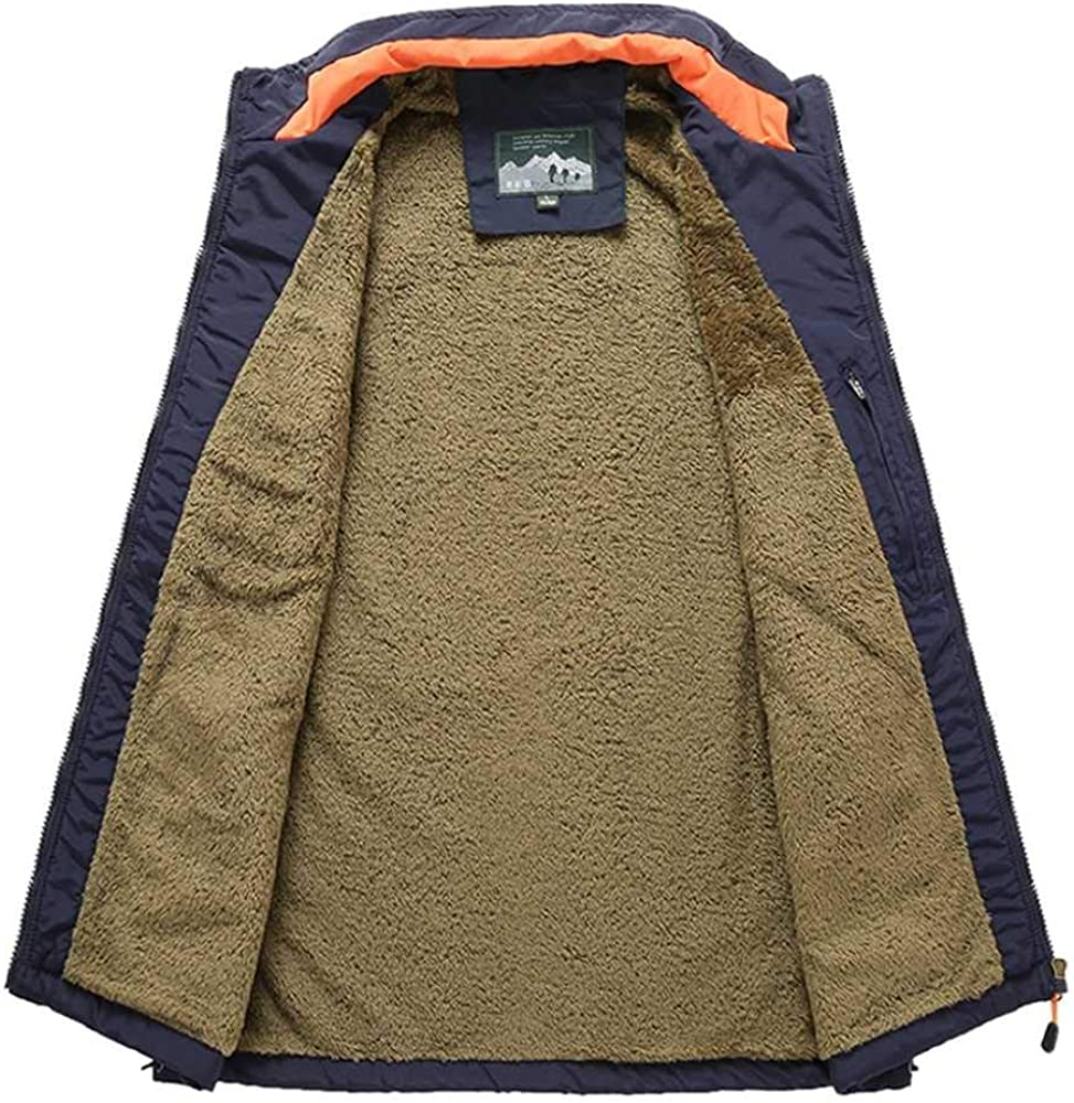 Mens Vests Casual Solid Outdoor Quick-Drying Vest Autumn Warm Travels Vest Photography Velvet Vest Waistcoat Male Clothes 6XL