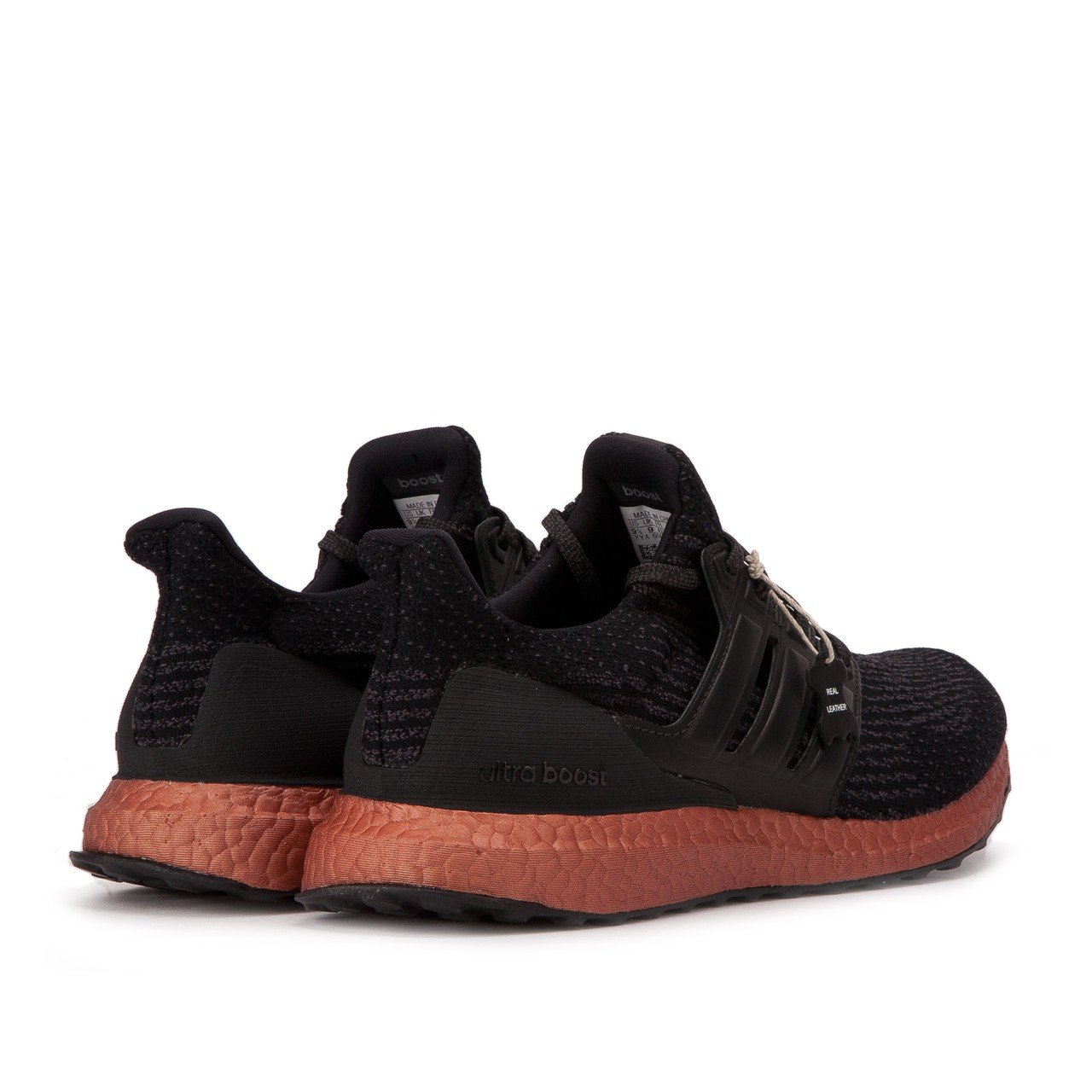 adidas Performance Men's Ultra Boost M Running Shoe Rust B01N7KIOQM 4 D(M) US|Black/Black/Tech Rust Shoe 496371