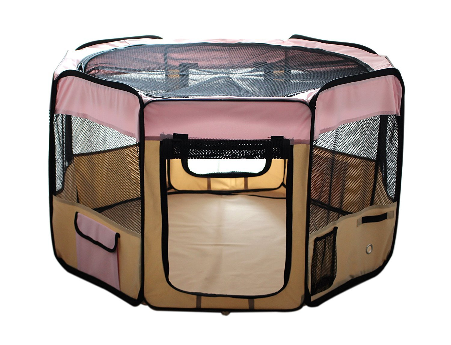ESK Collection Pink Pet Tent Exercise Pen Playpen Dog Crate XS