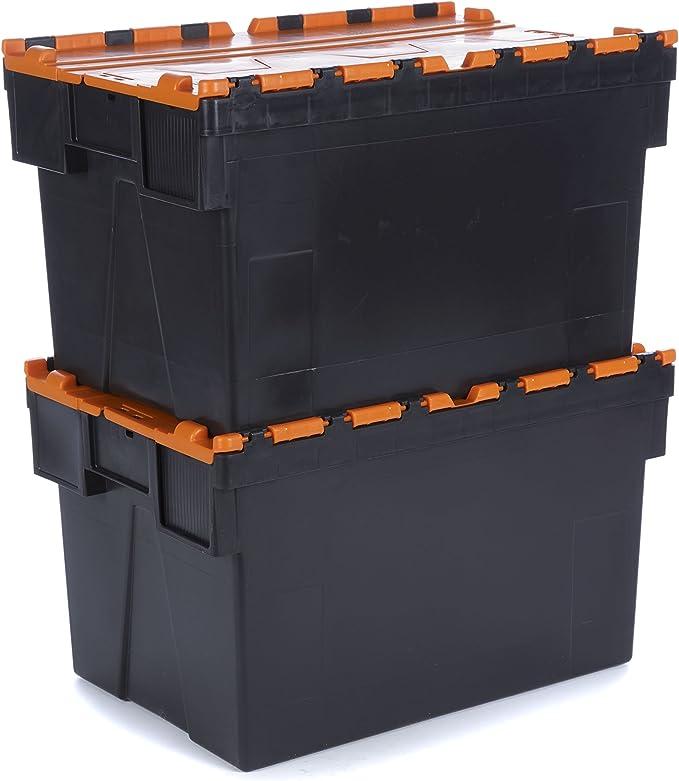 Racking Solutions - 2 unidades Caja de almacenamiento 65 litros ...
