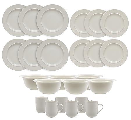Alessi La Bella Tavola 24 Piece Dinnerware Set - 6 Place Settings - 6x Dinner Plates  sc 1 st  Amazon UK & Alessi La Bella Tavola 24 Piece Dinnerware Set - 6 Place Settings ...