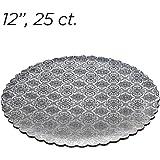 """12"""" Silver Scalloped Edge Cake Boards, 25 ct"""
