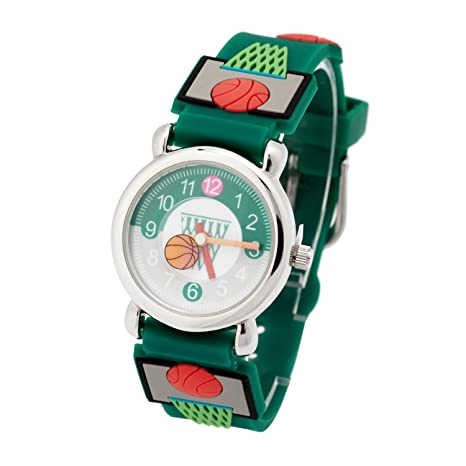 Reloj de cuarzo lindo 3D de dibujos animados Relojes de pulsera con banda de silicona Profesor