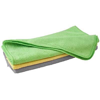 """Carrand 40061 Microfiber 16"""" x 16"""" Towel, 3 Pack (Colors May Vary): Automotive"""