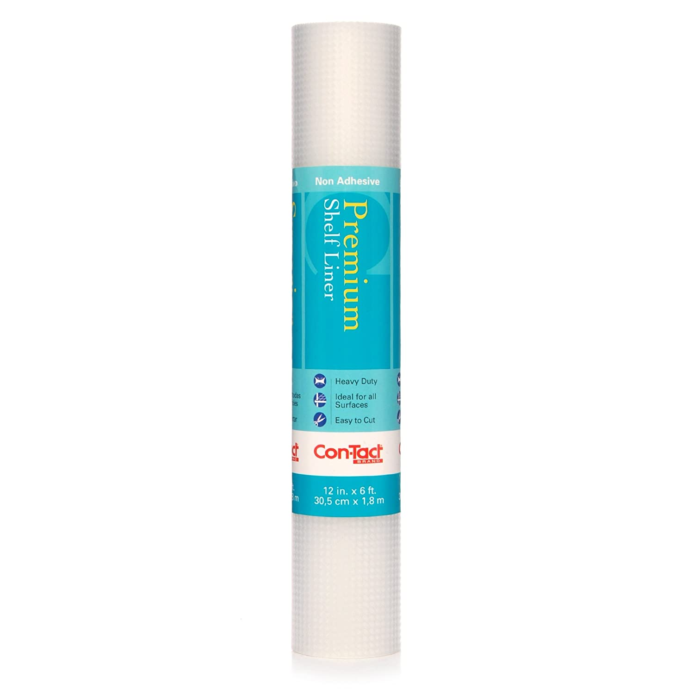 Con-Tact Brand Non-Adhesive Premium Shelf Liner, Woven Clear, 12-Inch x 6-Inch 06F-C5T35-06