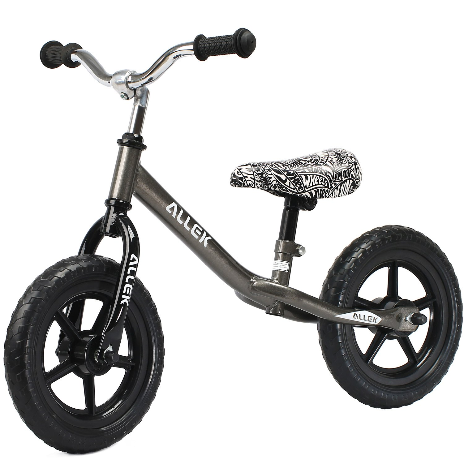 Allek Balance Bike for Kids & Toddlers, 12'' No-Pedal Run Bicycle Perfect for Balance Training 18 Month to 6 Year Old Child