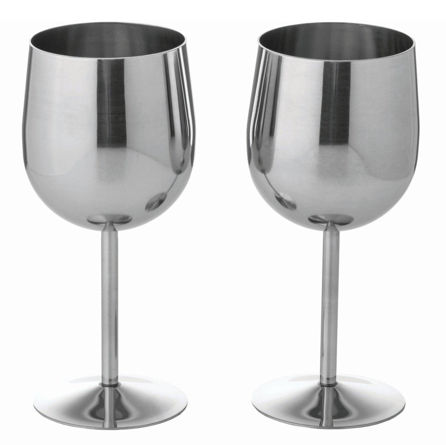 BNFUSA KTWGLS 2 Piece Stainless Steel Wine Goblet Set, NA