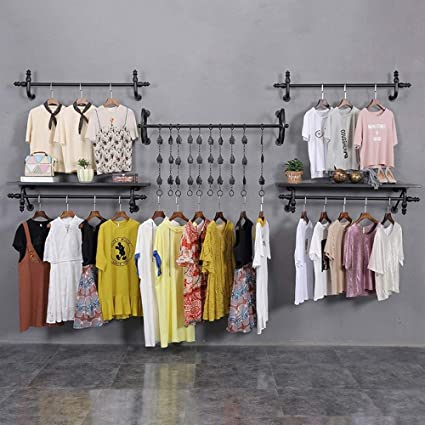 Amazon.com: PLLP Coat Racks Clothes Stand Retro Iron Art ...
