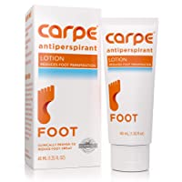 Carpe Antiperspirant Foot Lotion, A Dermatologist-Recommended Solution to Stop Sweaty...