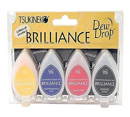 Brilliance Dew Drop Pigment Ink Pad 4pc Set-Planetarium