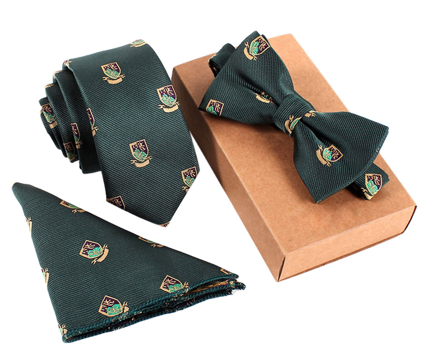 Necktie/Bow Tie/Pocket Square Fashionable Formal/Informal Ties Set Necktie Knot Black Panegy