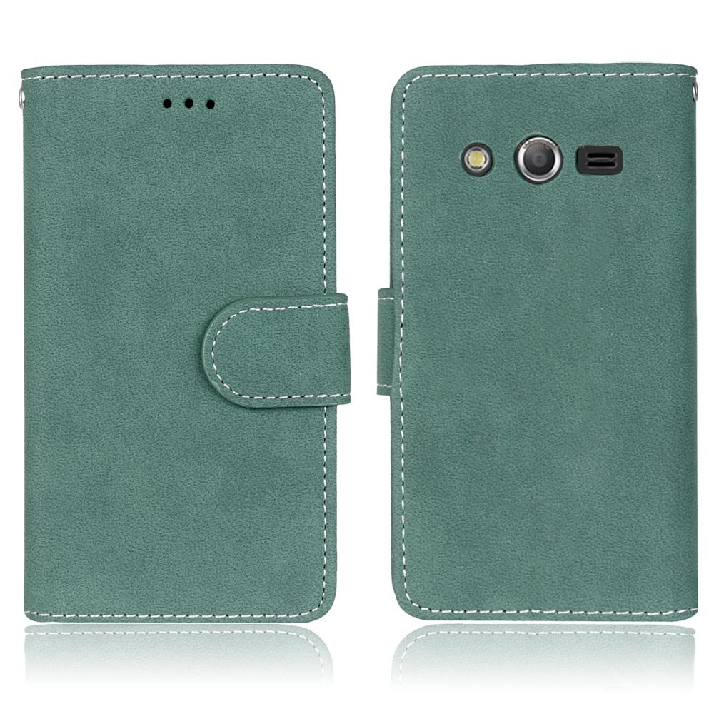 new product 1da66 203e4 Galaxy Avant Case, Galaxy Core LTE Case, SATURCASE Retro Frosted PU Leather  Flip Magnet Wallet Stand Card Slots Case Cover for Samsung Galaxy Core LTE  ...
