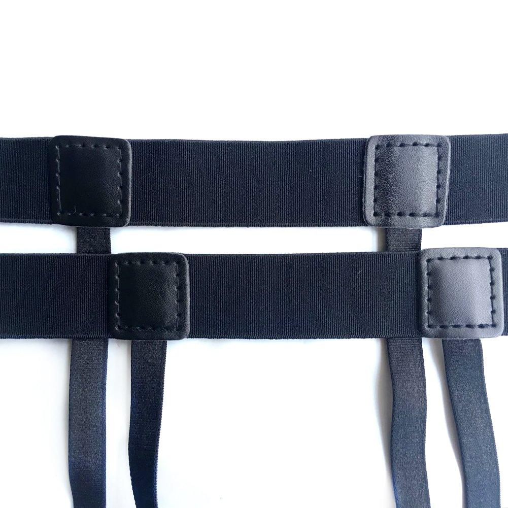 para hombre tirantes ajustable camiseta stays con elástico Cinturones para normal ropa traje de color blanco cuello resistente a… 9PuOj8KG