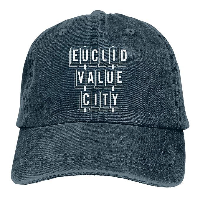 53defa99 Euclid Value City Denim Hats Adjustable Baseball Cap Dad Hats at Amazon  Men's Clothing store: