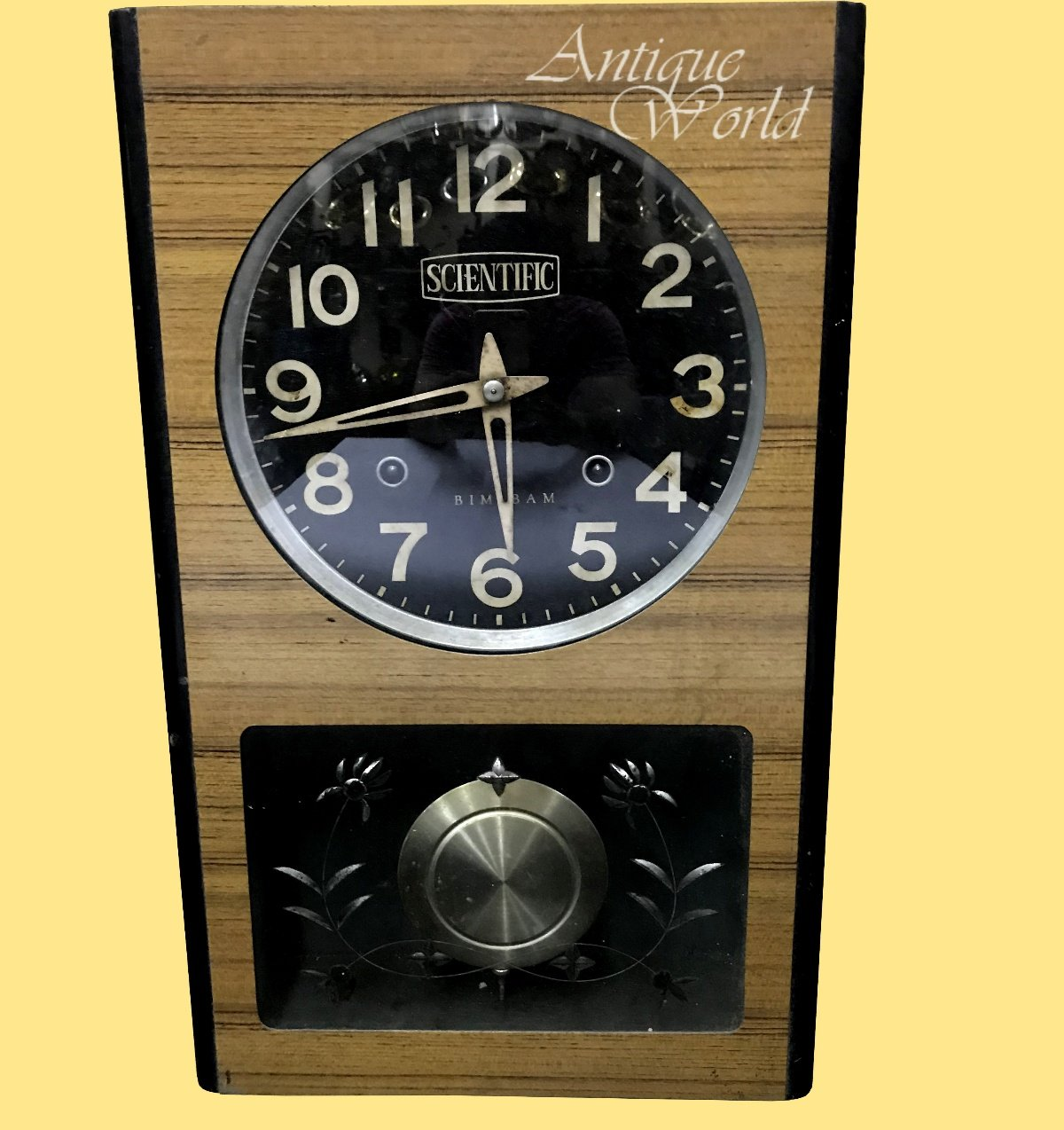 Antiques World Original Rare Time Piece Antique Collectible Clocks 20th Century Stylized Watch Home & Wall Décor Vintage Genuine Scientific Wind Up Bim – Bam Wall Clock AWUSAHB 0194