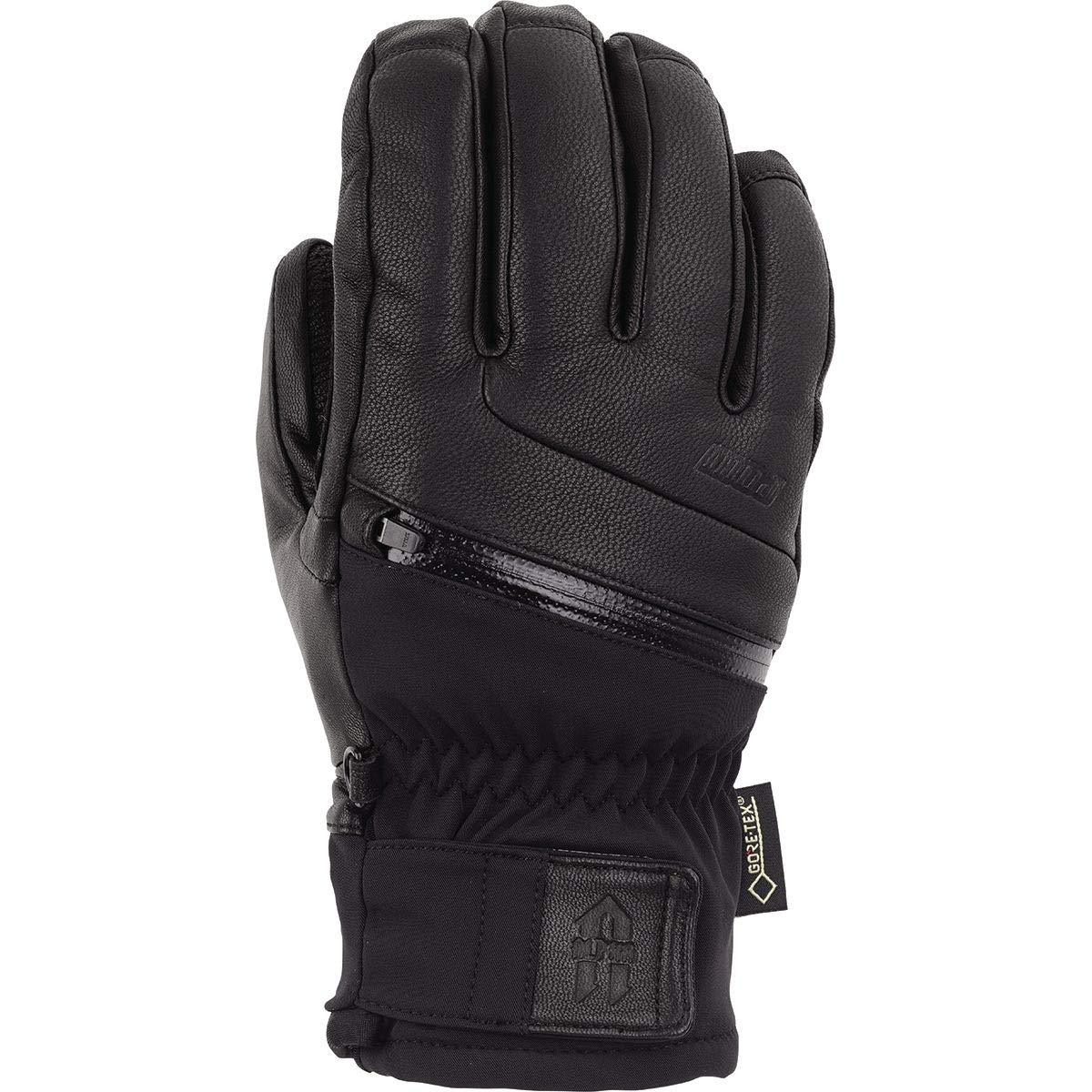 Pow Gloves Alpha GTX Glove - Men's Black, L by Pow Gloves