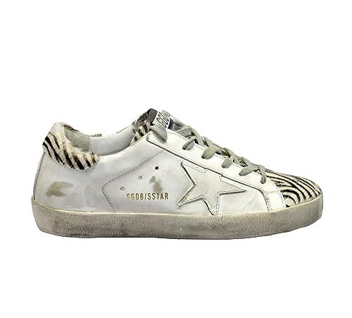 new arrival 41643 f3a62 Golden Goose Sneakers Superstar Bianco Zebra