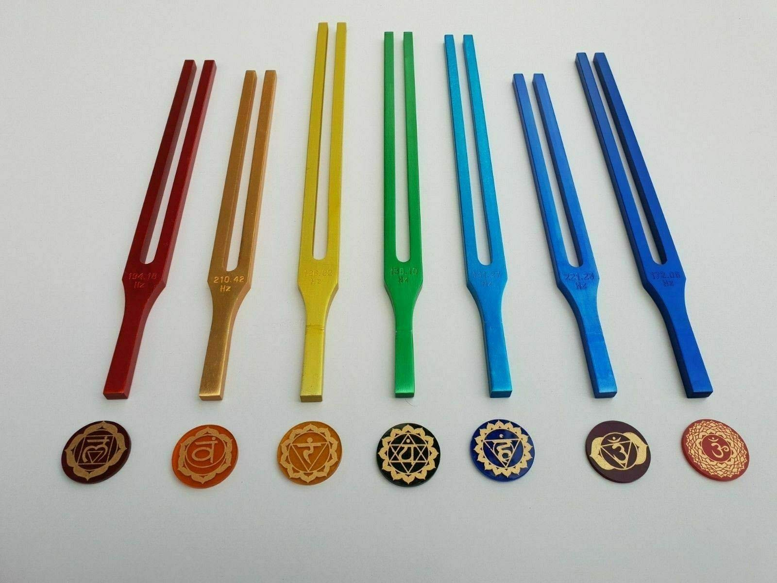 Ira Industry Chakra Tuning Fork with Colour Therapy by Ira Industry