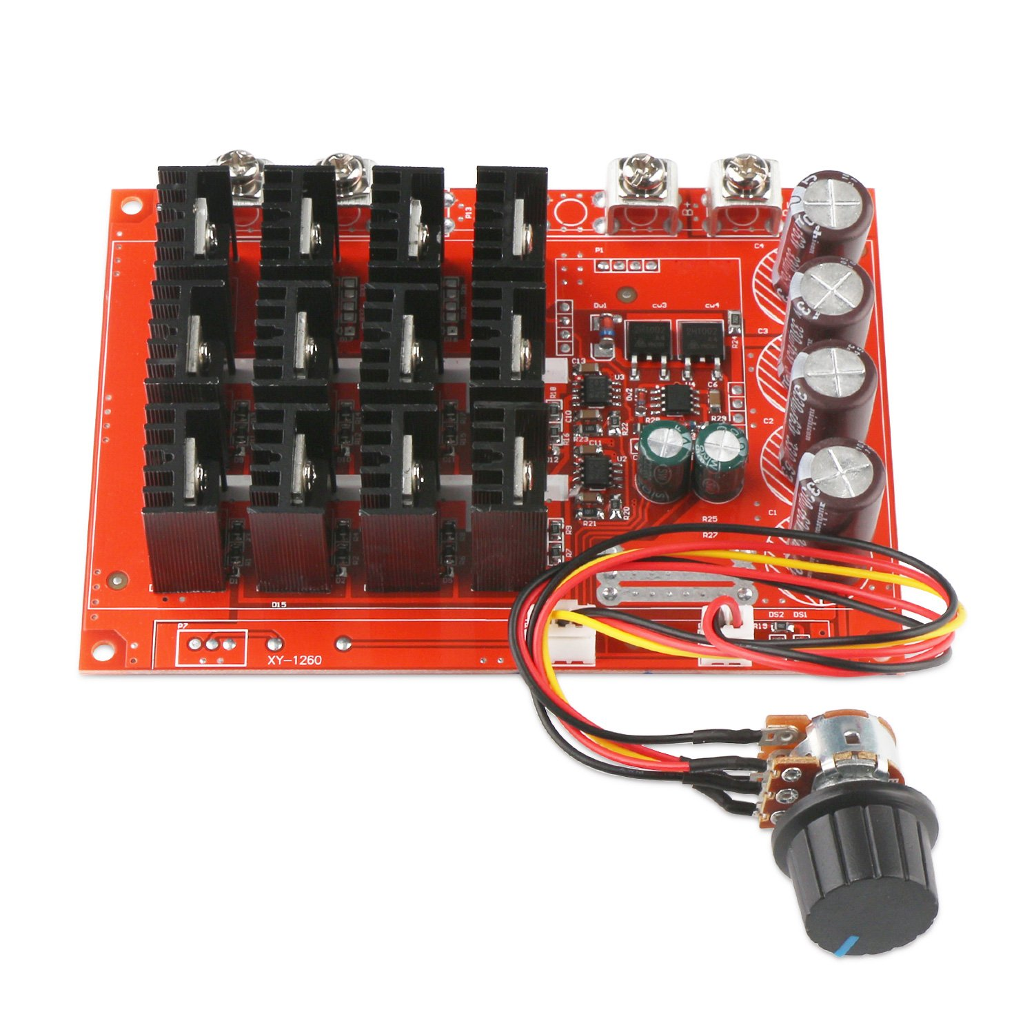 Motor Speed Control Board, DROK DC 10-50V 60A High Power Motor Speed Controller PWM HHO Driver Controller Module 12V 24V 48V 3000W Extension Cord with Switch by DROK (Image #2)