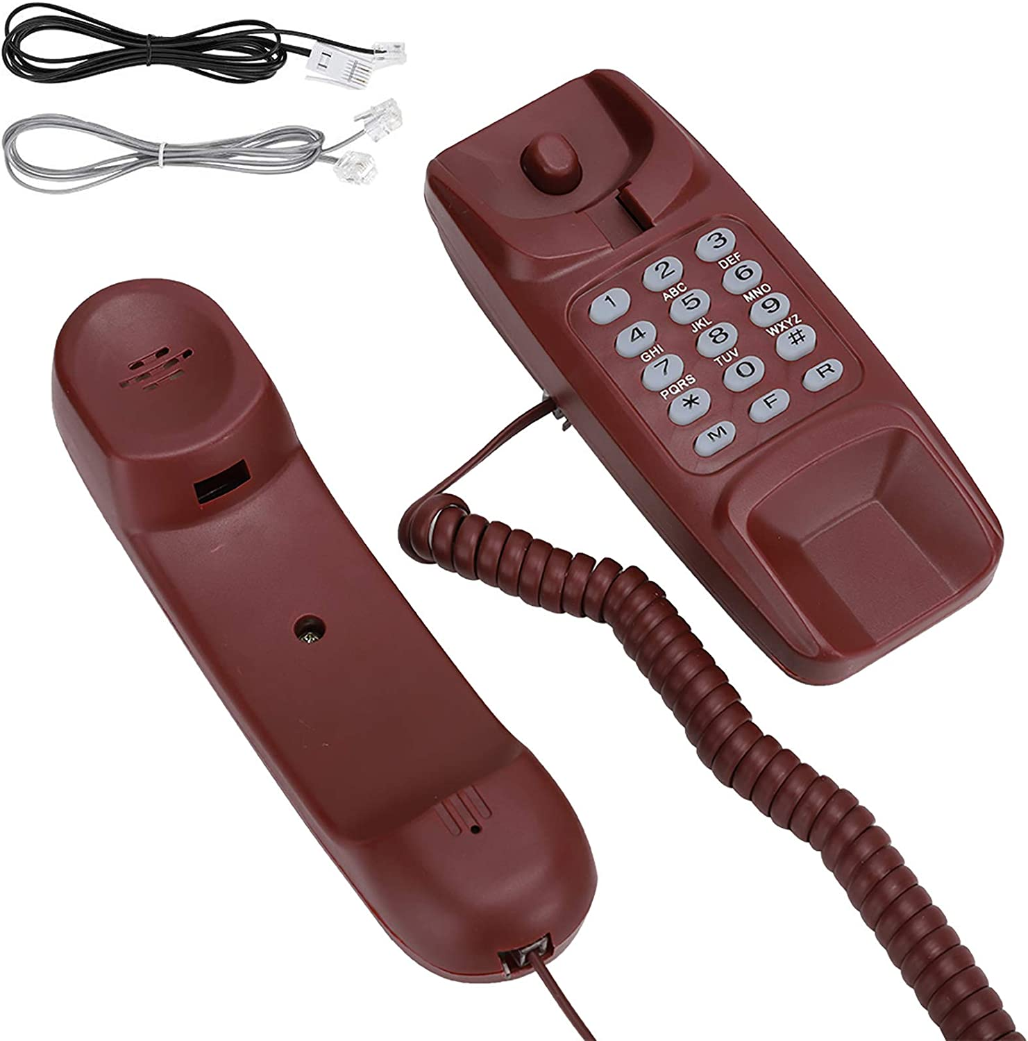 Office Business Resistant to Wear Red Suit for Home Corded Telephone Landline Telephone Wall Mounted Modern Corded Telephone House Phone Noise Cancelling Hotel
