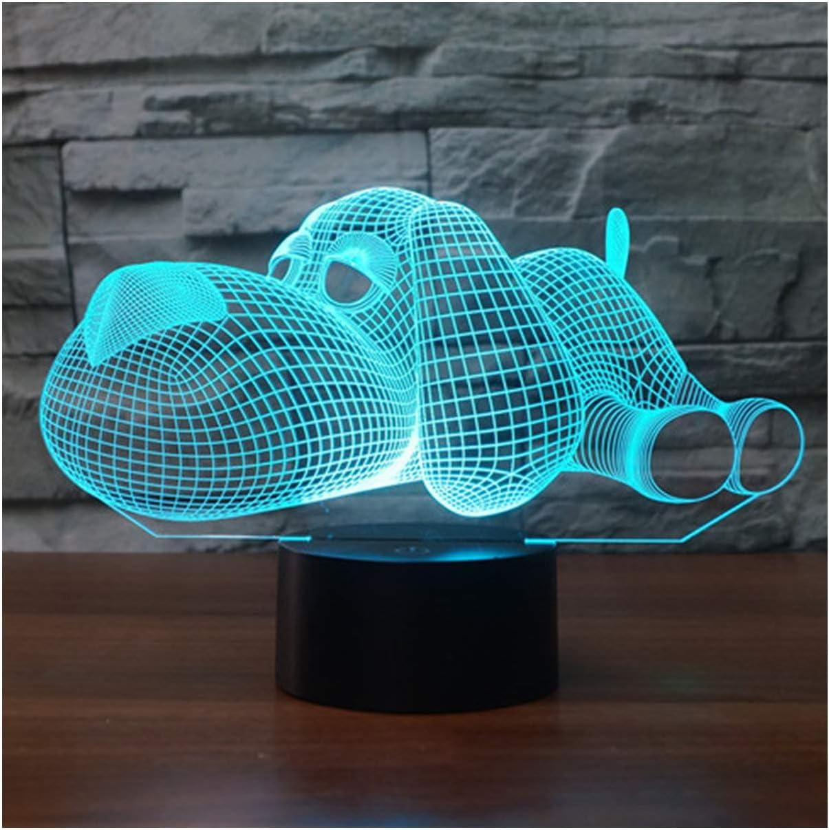 chargeur USB veilleuse de bureau pour enfants cadeau cheval interrupteur tactile amis lampe de bureau /à LED tactile 7 couleurs changeantes Veilleuse /à illusion doptique 3D