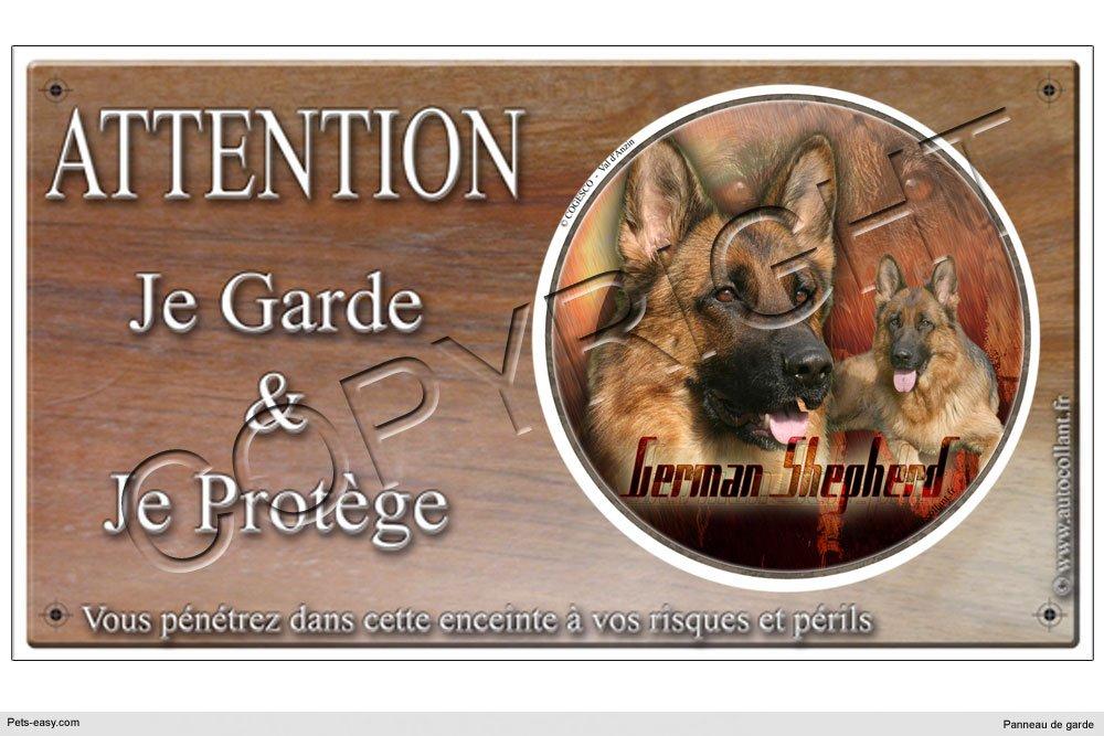 Panneau chien ou plaque German-Shepherd 20 cm COGESCO sarl