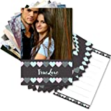 Clixicle Customized Love Cards - Set of 9 Cards - Gift for Valentine, Friend (Chalkboard Hearts)