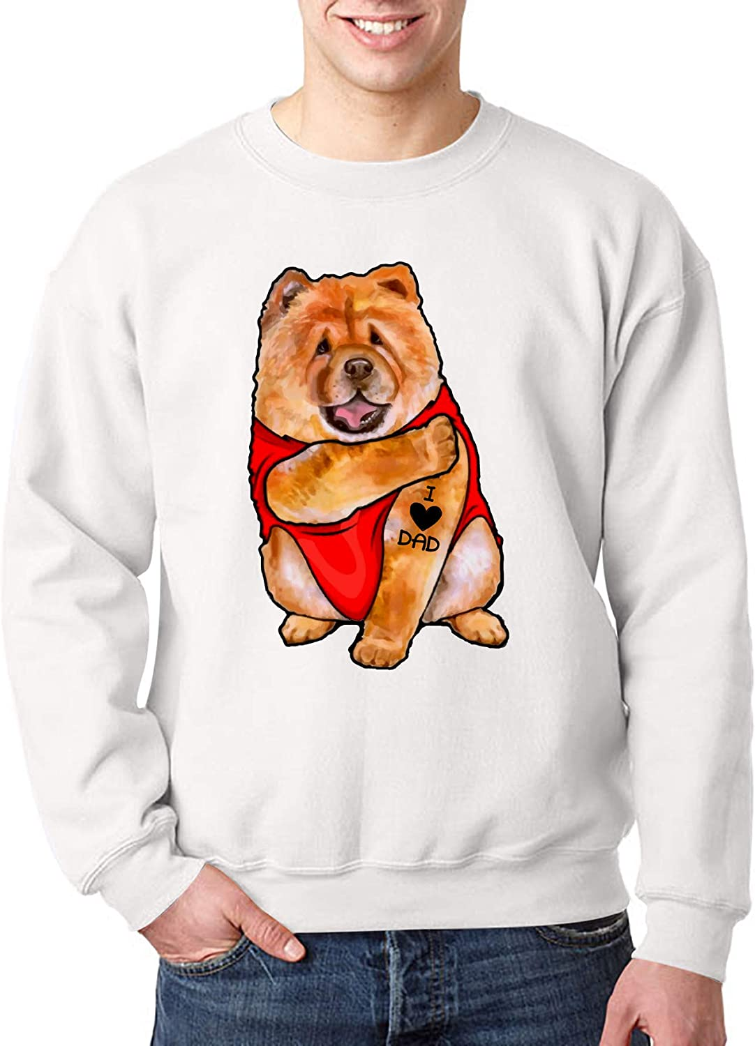 Dog Has Tattoo I Love Dad Chow Chow for Best Dog Father