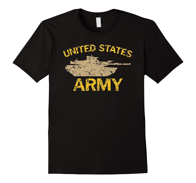 United States Army M1A2 Abrams Tusk Tank Grunge T-Shirt-BN