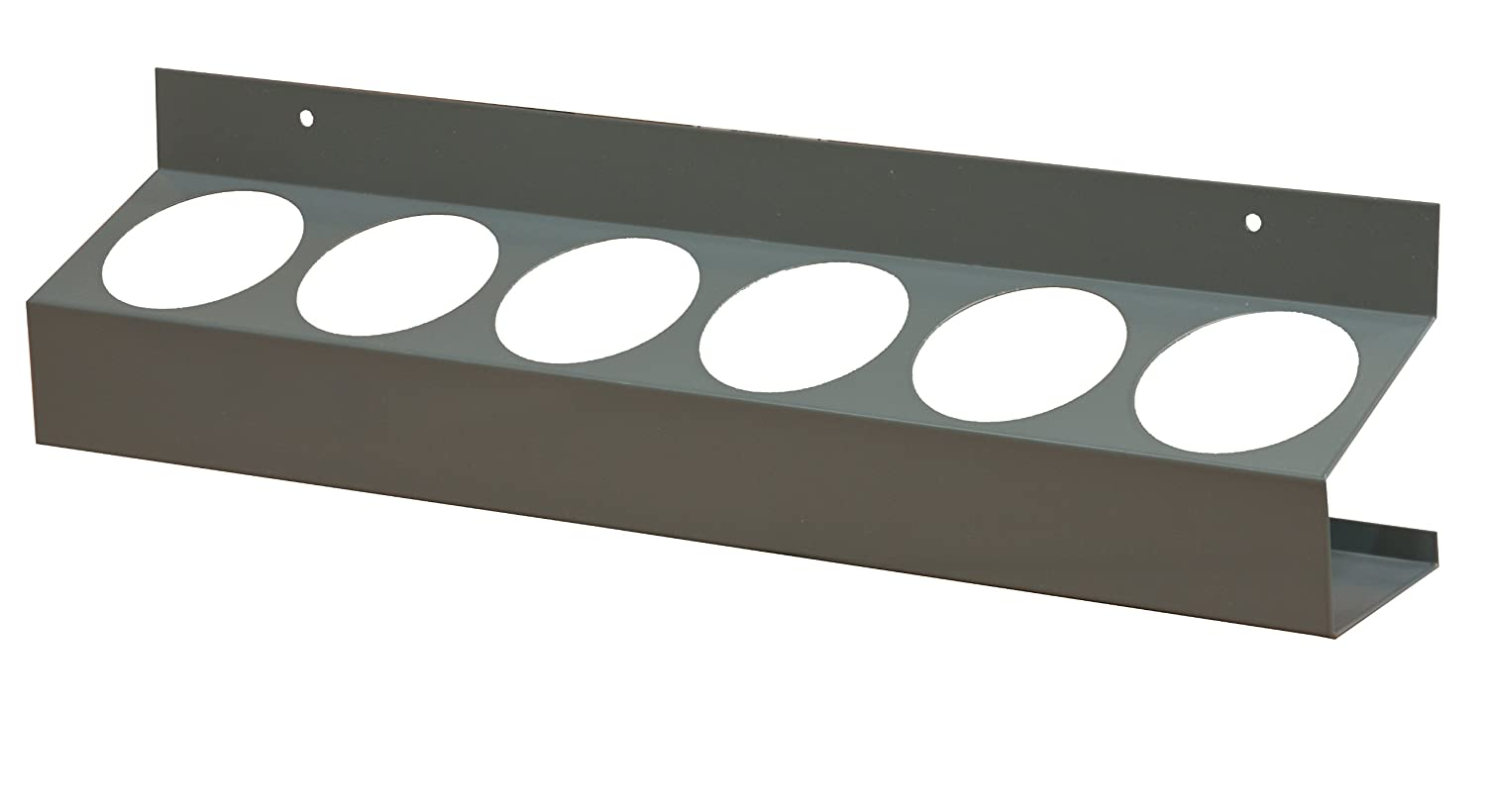 """Durham 385-95 Gray Cold Rolled Steel 6 Sections Aerosol Can Caddy, 21-1/2"""" Width x 5-1/4"""" Height x 3-1/8"""" Depth"""