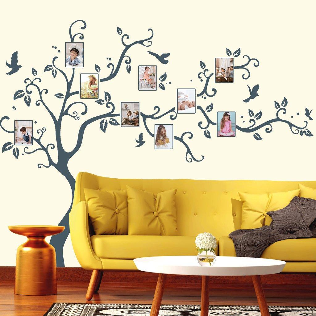 Wandtattoo Baum Baum Baum mit Bilderrahmen und Vögeln Fotobaum Wandsticker Kinderzimmer weiß   190 cm hoch x 238 cm breit B01LYZC5ZD Wandtattoos & Wandbilder bee5d1