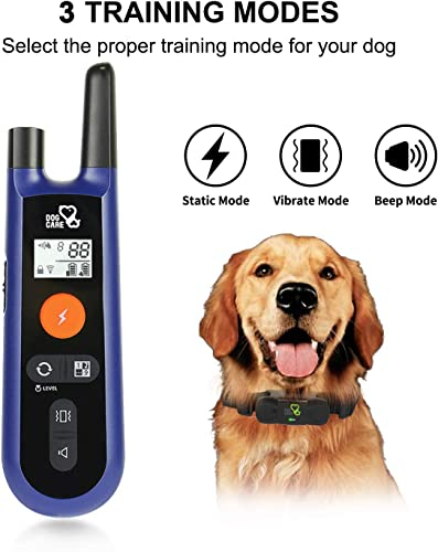 DOG-CARE-Dog-Training-Collar-Dog-Shock-Collar-w/3-Training-Modes,-Beep,-Vibration-and-Shock