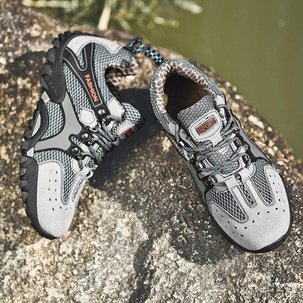 CAGAYA Scarpe da Escursionismo Uomo Donna Scarpe da Trekking Arrampicata Sportive All\'aperto Trail Climbing Sneakers Grigio 1163