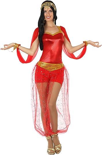 Atosa- Disfraz Corto Mujer Bailarina árabe, Color Rojo, XS-S ...