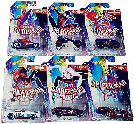 Spider-Man Hot-Wheels Into The Spider-Verse Vehículos en un Juego Genial de 6, para Que los niños jueguen y coleccionen: Amazon.es: Juguetes y juegos